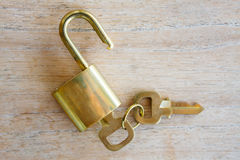 Golden padlock Stock Photos