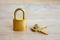 Golden padlock Royalty Free Stock Photography