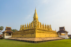 Golden pagada Wat Pha-That Luang in Vientiane, Laos Stock Photos