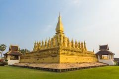 Golden pagada Wat Pha-That Luang in Vientiane, Laos Stock Photos