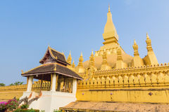 Golden pagada Wat Pha-That Luang in Vientiane, Laos Stock Photo