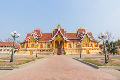 Golden pagada Wat Pha-That Luang in Vientiane, Laos Stock Photography