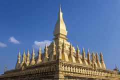 Golden pagada in Wat Pha-That Luang, Vientiane, Laos Stock Image