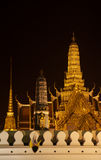 The golden Pagoda. A landmark temple in Bangkok called Wat Pra kaew, Thailand Stock Images