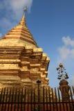 Golden Pagoda. Wat Doi Suthep Temple, Chiang Mai, Thailand Stock Photo