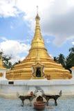 Golden Pagoda. At Koh Kret, Nonthaburi, Thailand Stock Photo