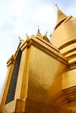 A Golden Pagoda. At Wat Phra Kaew, Bankok, Thailand Royalty Free Stock Image