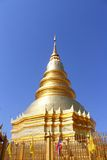 Golden pagoda. The golden pagoda in thailand Royalty Free Stock Photos