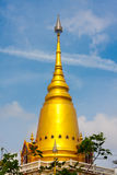 This is a golden pagoda Stock Photography