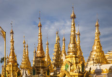 Golden Pagoda. Part of the golden Shwedagon Pagoda, Yangon, Burma, Southeast Asia royalty free stock images