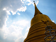 A golden pagoda. Royalty Free Stock Images