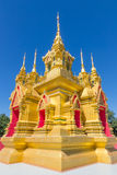 Golden pagoda. The golden pagoda in Chiang Mai, Thailand Stock Images