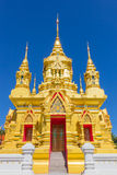 Golden pagoda. The golden pagoda in Chiang Mai, Thailand Royalty Free Stock Photography