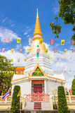 Golden pagoda. In temple, THAILAND Stock Photos