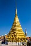 Golden pagoda. At Wat Pra Keaw ,Thailand Stock Image