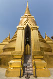 Golden pagoda. In buddhist temple royalty free stock image