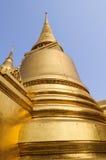 Golden pagoda. At Wat Phra Kaew, Bangkok, Thailand Royalty Free Stock Photography