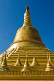 The Golden Pagoda of Bagan in Myanmar Stock Photography