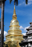 Golden Pagoda. With blue sky background Stock Image