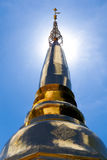 Golden Pagoda. With blue sky background Stock Images