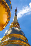 Golden Pagoda. With blue sky background Stock Photo