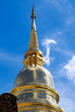 Golden Pagoda. With blue sky background Stock Photography