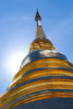 Golden Pagoda. With blue sky background Royalty Free Stock Image