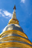 Golden Pagoda. With blue sky background Royalty Free Stock Images