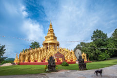 Golden pagoda with blue sky Stock Image