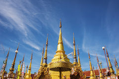 Golden pagoda and blue sky at Phra Borommathat temple Tak Province ,Thailand. Stock Photo