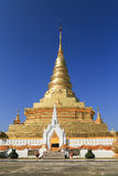 Golden Pagoda with blue sky Royalty Free Stock Photos