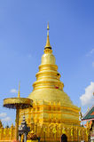 Golden Pagoda and blue Sky Royalty Free Stock Images