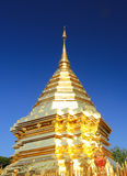 Golden pagoda buddha That Doi Suthep, chiangmai ,Thailand Stock Image