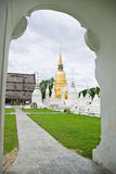 Golden pagoda in Buddhist temple Royalty Free Stock Photos