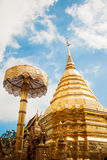 A golden pagoda. Of a Buddhist temple Royalty Free Stock Photography