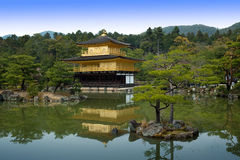 Golden Pagoda Castle in Kyoto Royalty Free Stock Photos