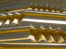Golden pagoda detail in Myanmar Stock Images