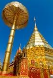 Golden pagoda at Doi Suthep Royalty Free Stock Photo
