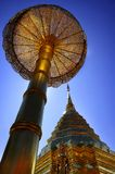 Golden Pagoda in Doi Suthep, Chiang Mai, Thailand Royalty Free Stock Photography