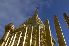 Golden pagoda of Doi suthep Royalty Free Stock Images