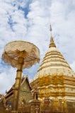Golden pagoda in Doi Suthep temple. Royalty Free Stock Photos
