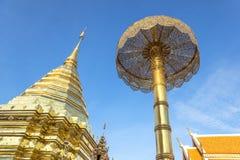 Golden pagoda on Doi Suthep temple Royalty Free Stock Photo