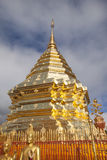 Golden pagoda of Doi Suthep Royalty Free Stock Photos