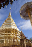 Golden pagoda of Doi Suthep Stock Photography