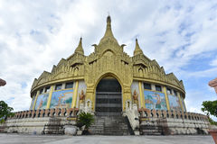 Golden pagoda famous places land mark in Mong La Myanmar`s Sin C. Ity shan state myanmar. Nearly china ishuangbanna, Sibsongbanna,Sipsong Panna royalty free stock images