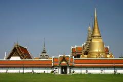 Golden Pagoda in Grand Palace. Bangkok, Thailand Stock Photos