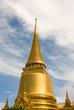 Golden pagoda in the Grand palace area in Bangkok, Stock Images