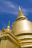 Golden pagoda in the Grand palace area in Bangkok, Royalty Free Stock Photography