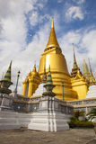 Golden pagoda grand palace important worship and traveling desti Royalty Free Stock Photo