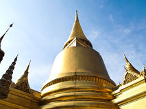 Golden Pagoda at The Grand Palace Wat Phra Kaew Royalty Free Stock Photo